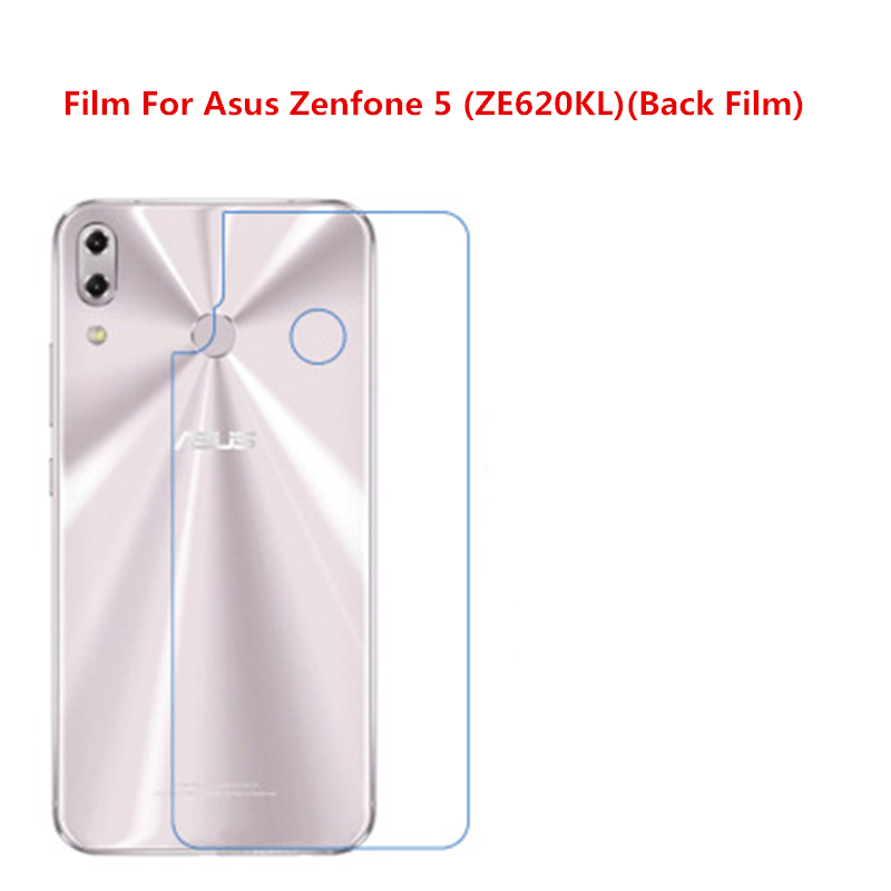 5 Pcs Ultra Thin Clear HD LCD Screen Guard Protector Film With Cleaning Cloth Film For Asus Zenfone 5 (ZE620KL)(Back Film).