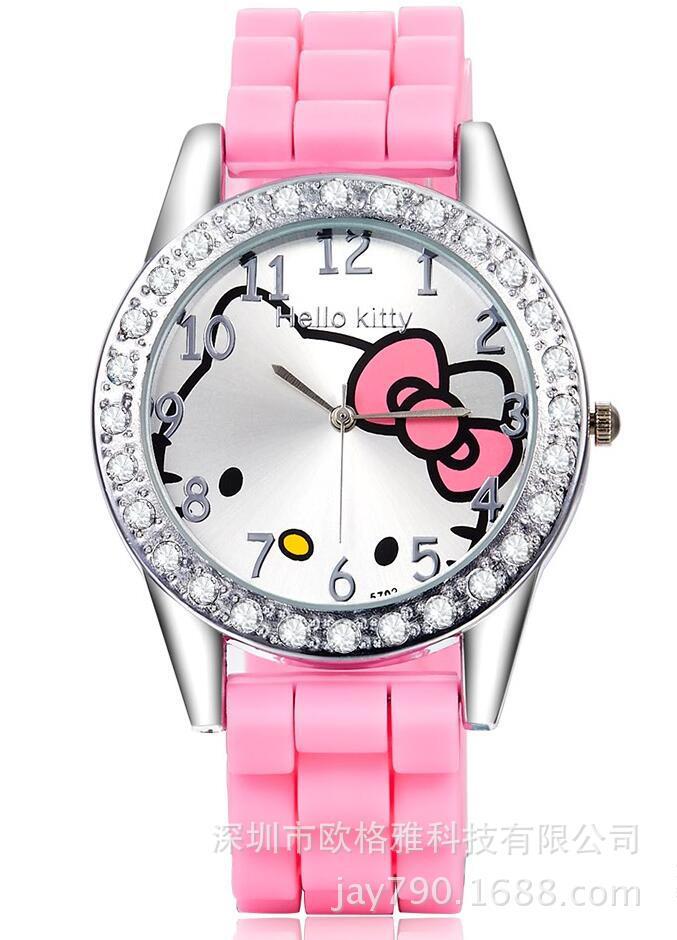 design quartz watch Hello Kitty Children Watch for brithday gift lady children