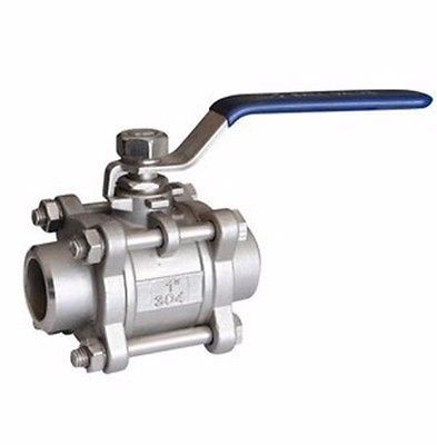 DN25 1 BSP Female Thread 304 Stainless Steel 1-piece Ball Valve oil water air 229 PSI 1 2 bsp female 304 stainless steel flow control shut off needle valve 915 psi water gas oil