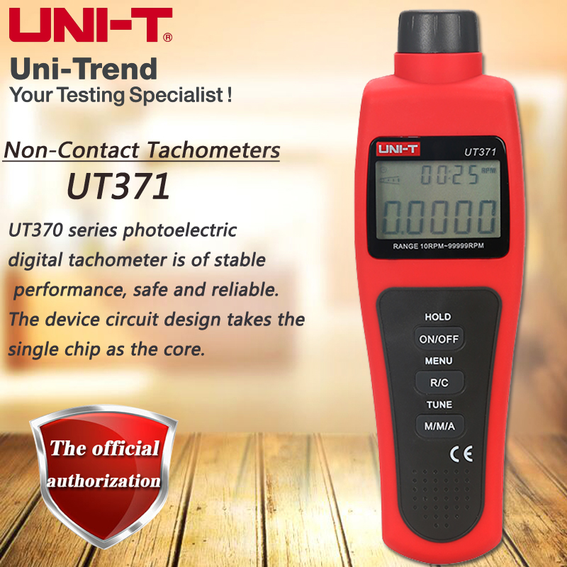 UNI-T UT371 non-contact tachometer photoelectric tachometer low voltage display automatic shutdown uni t ut372 non contact tachometer with measuring range 10 to 99 999 rpm