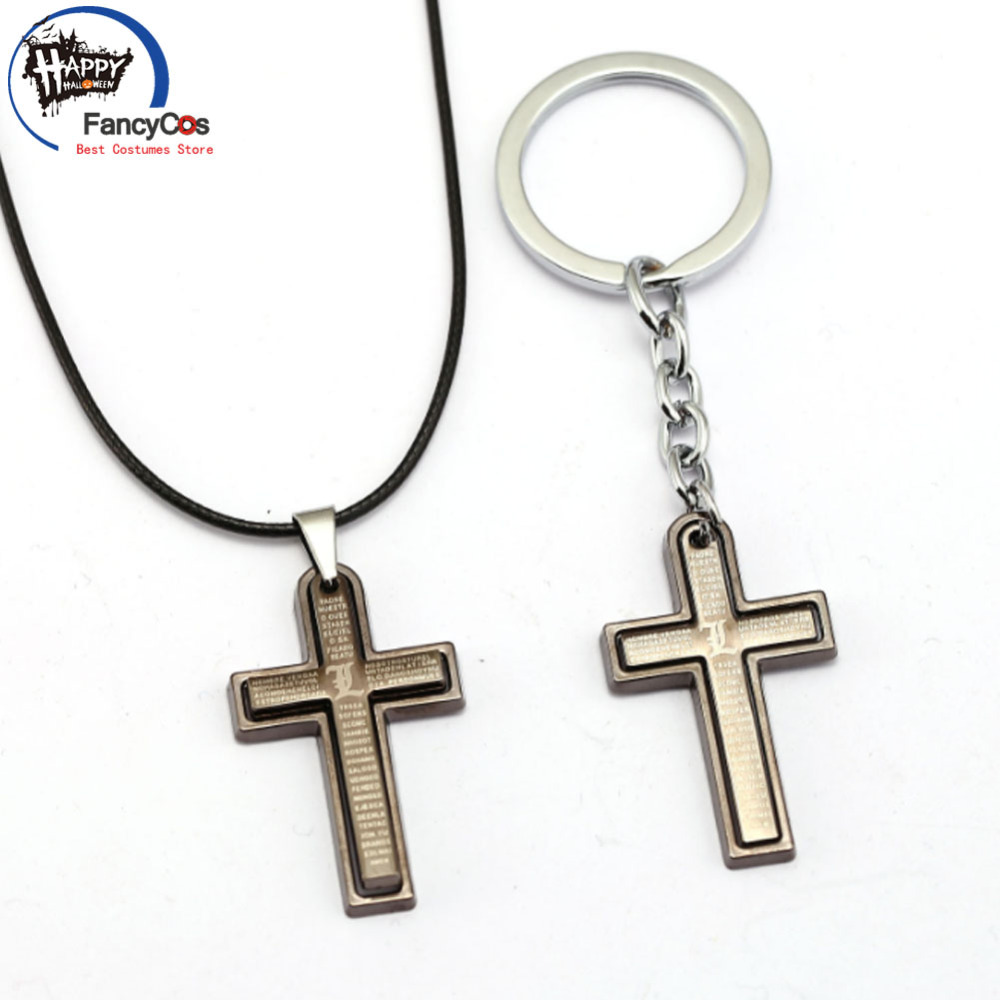 Death Note  Cross  logo characters  Metal  necklace Fancy Jewelry Costume Cosplay Halloween Movie