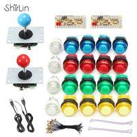 DIY Joystick Arcade Kits 2 Players With 20 LED Arcade Buttons 2 Joysticks 2 USB Encoder