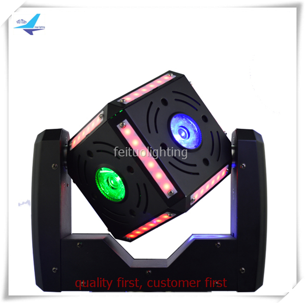 (4/lot)Professional sound moving head beam cube 6x12w rgbw 4in1 with strip cube led moving head