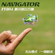 Mini Bolsillo Drone Quadrocopter FY804 4CH 2.4G 6 Eje 360 Grados Rollo LED Helicóptero Modelo de Avión Juguetes RC Helicóptero 2.2 cm Drone
