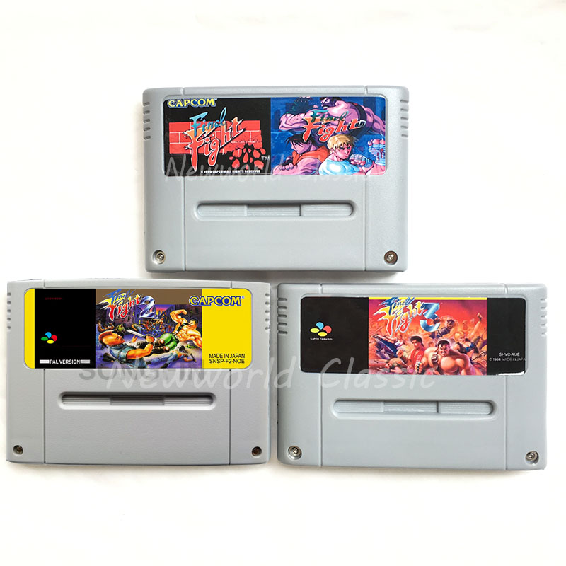 Final Fight Series 1 2 3 for 16 Bit Video Game Cartridge Compilation Card for EUR/PAL Version Game Console
