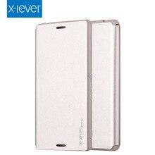Original X-level Flip Smart Cover PU+TPU Leather Case for Sony Xperia M4 Aqua Case ,Phone Cover Cases for Sony M4 Aqua