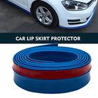 2.5M Carbon Fiber Front Bumper Lip PU Splitter Valance Chin Skirt Protector Trim Car Sticker Body Kits Spoiler
