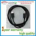 Nuevo cable usb para apple nuevo macbook 12 a1534 ''pulgadas 2015 USB 3.1 tipo C de tipo C A1706 A1707 adaptador de carga de energía 1 M negro