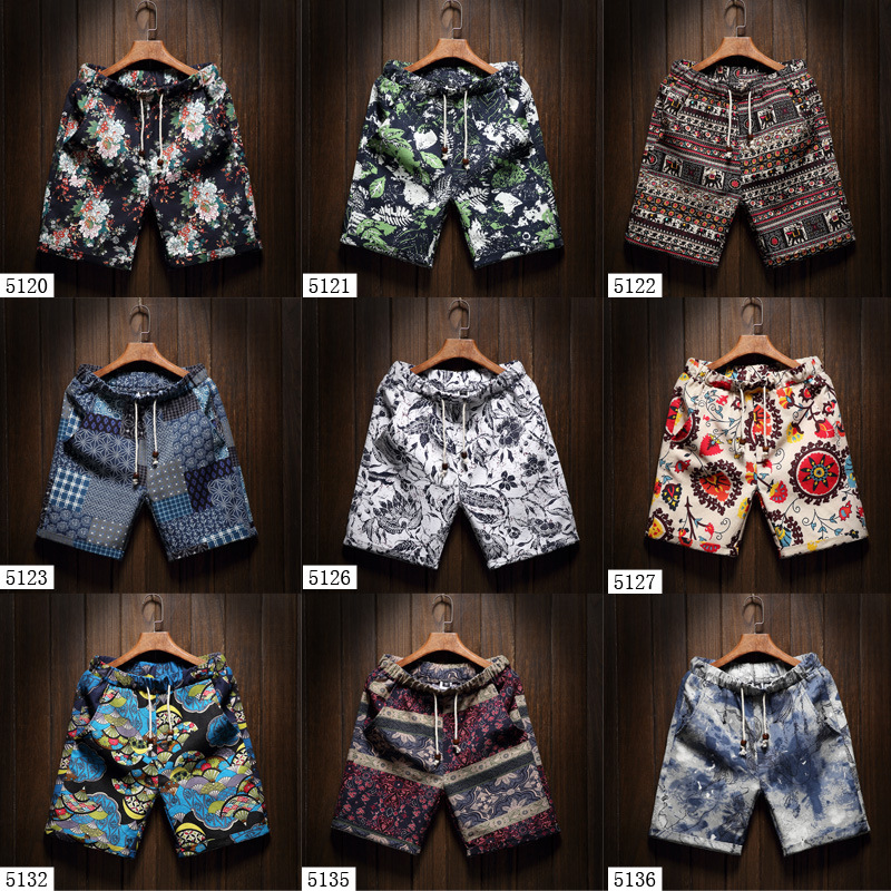 Zogaa 2019 Summer New Men's Bermuda Shorts Loose Straight Floral Casual Slim Fit Shorts Men Hip Hop Floral Printed Beach Homme