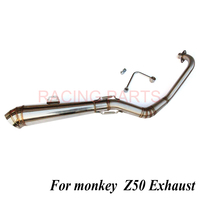 Z50 spare parts Stainless steel Exhaust System Monkey Bike Exhaust muffler exhaust pipe for monkey z50 50cc|Exhaust & Exhaust Systems|   -