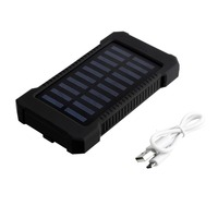 Wopow Solar Power Bank 30000mAh Portable Waterproof Solar Charger Powerbank 30000 Mah Dual USB External Battery