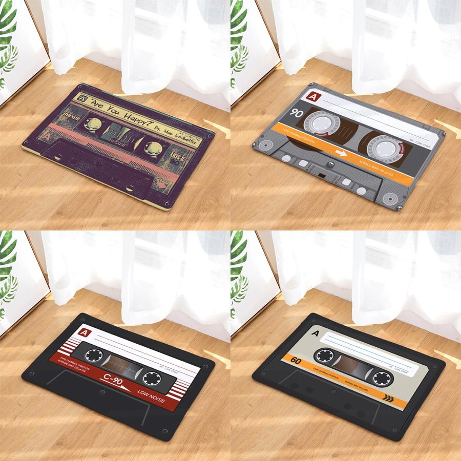 Retro Entrance Mat Waterproof Anti-Slip Doormat Magnetic Tape Mix Tape Carpets Bedroom Rugs Decorative Stair Mats Home Decor
