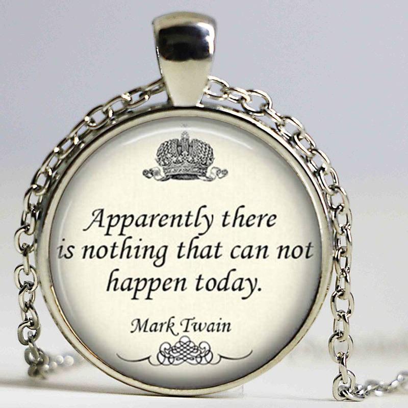 Unique necklace Oscar Wilde Inspirational Quote Necklace ...