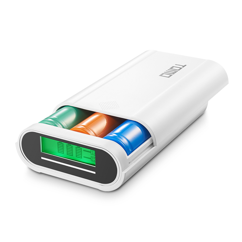 18650 Battery Smart Charger Dual USB Power Bank with LCD Screen for iPhone font b Android