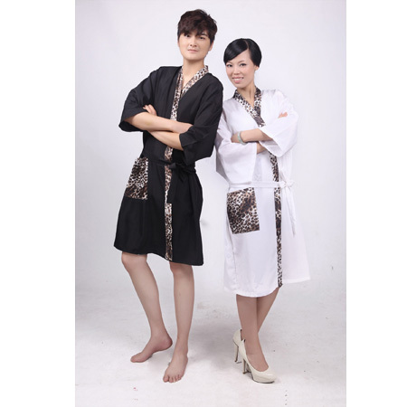 adult waterproof anti-static salon clothes shower gown for only one