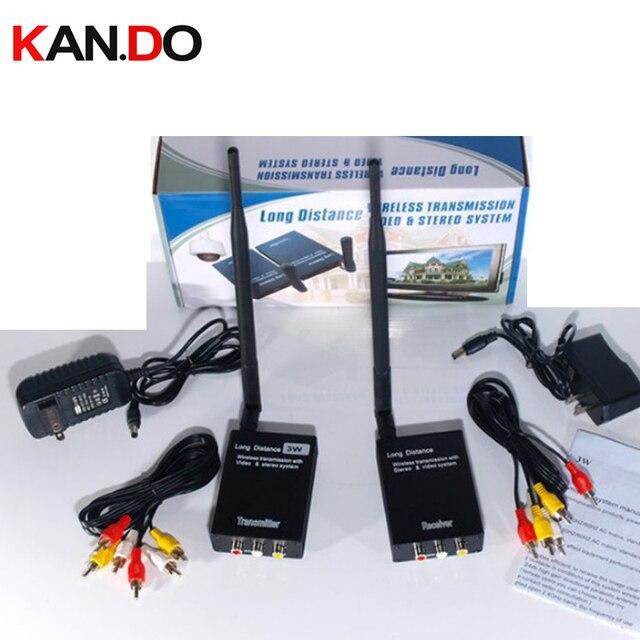 Transceptor inalámbrico para elevador cctv, 3W, 2,4G, 2400Mhz, 2,4G, transmisor de cámara, audio y vídeo