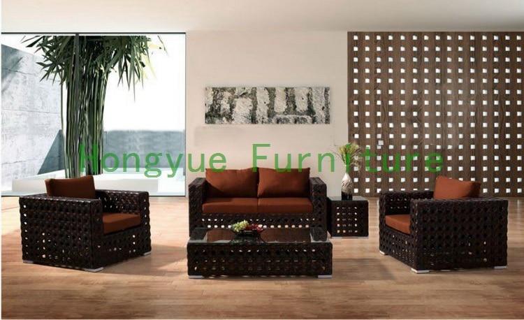 Pe Rattan Living Room Sofa Designs