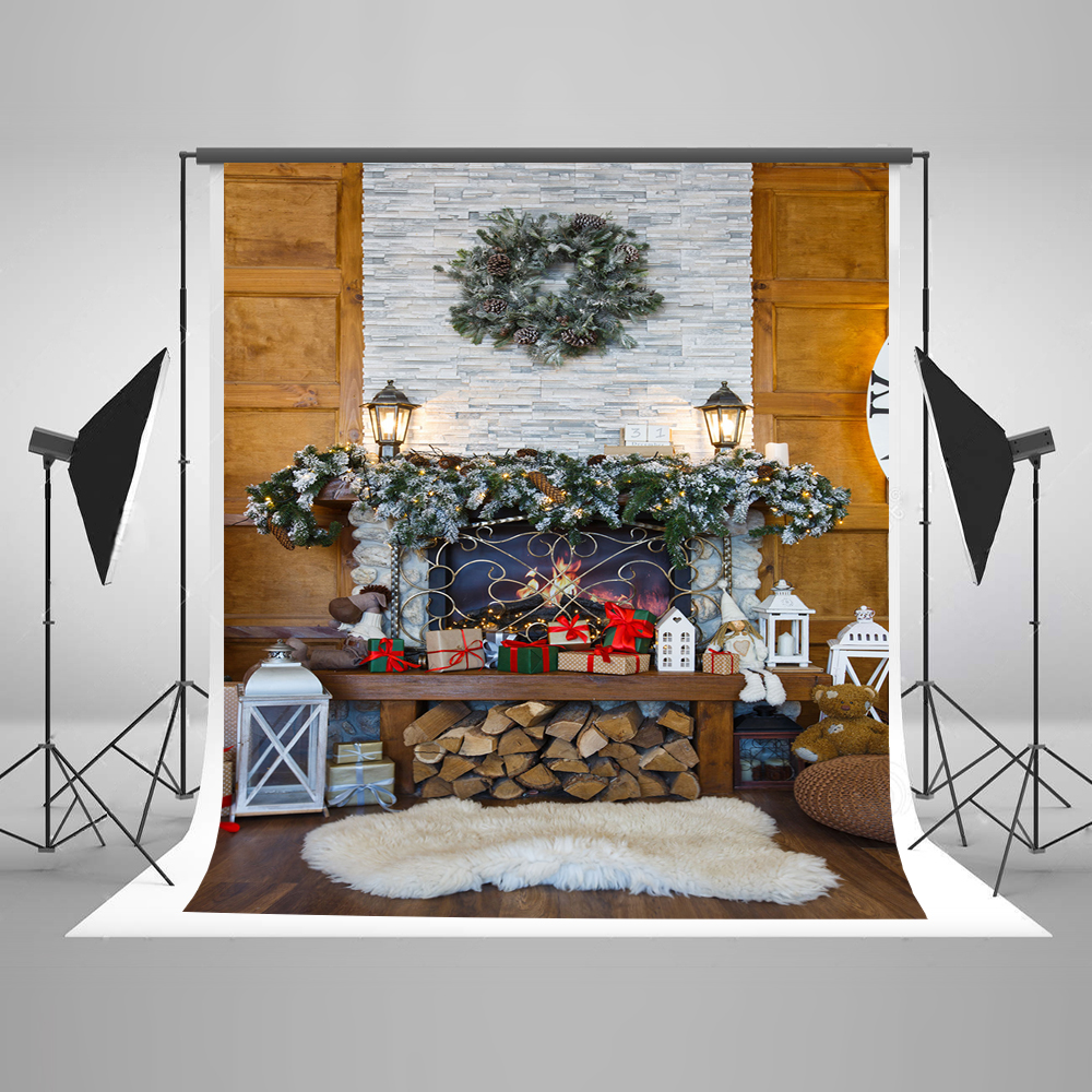 Kate 10x10ft Christmas Photography Backgrounds  Photography Indoor Christmas Decorations For Home Cotton Photo Backdrop сумка kate spade new york wkru2816 kate spade hanna