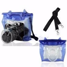 DSLR SLR กล้องถ่ายรูปใต้น้ำกระเป๋ากันน้ำกระเป๋าใส่กระเป๋าสำหรับ Canon Nikon Drop Shipping