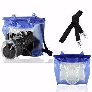 Image 1 - DSLR SLR كاميرا مقاوم للماء تحت الماء الإسكان الحقيبة حقيبة جافة لكانون نيكون انخفاض الشحن