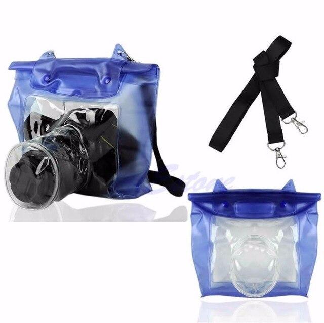DSLR SLR كاميرا مقاوم للماء تحت الماء الإسكان الحقيبة حقيبة جافة لكانون نيكون انخفاض الشحن