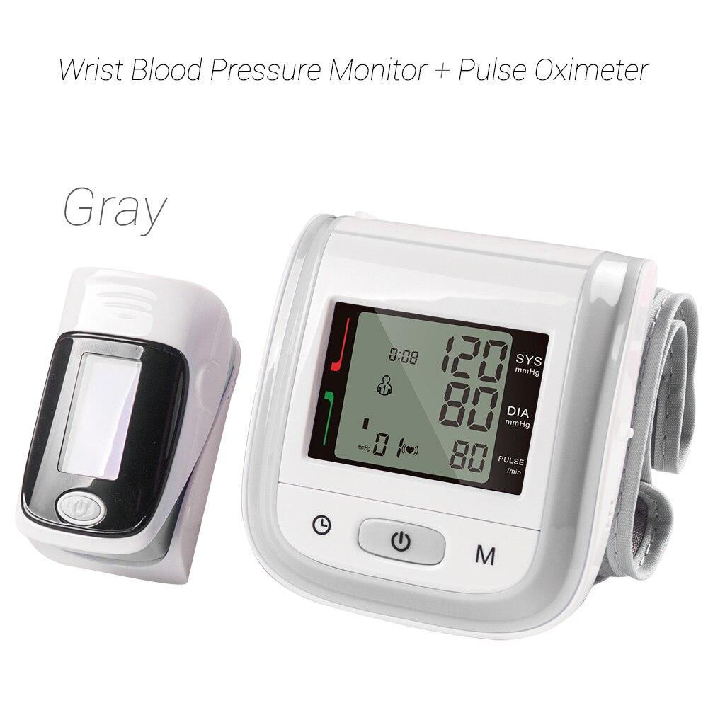 Image 4 - Yongrow Wrist Medical Digital  Blood Pressure Monitor Sphygmomanometer Finger Pulse Oximeter SpO2 Saturation Meter Family Health-in Blood Pressure from Beauty & Health