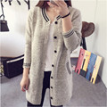 Cardigan Sweater Women Students Sweaters Long Version Sweaters New Arrival 2016 Sweater V-Neck Women