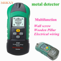 2016 NEW Upgraded Metal Detector Detects Wooden Pillar Stud AC Voltage Scanner LCD 3 In 1multifunction