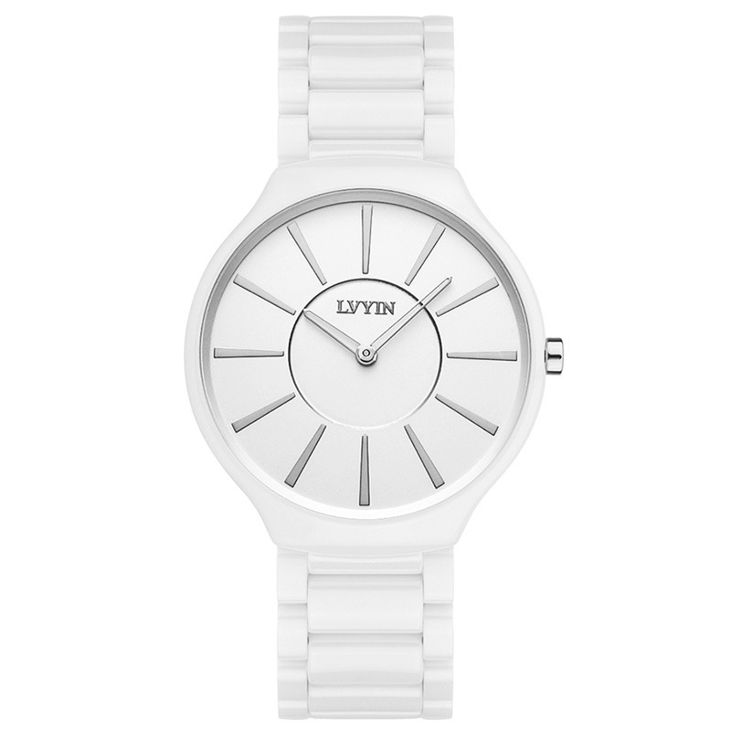 Lvyin Brand Couple Watches Waterproof Quartz Ladies Men's Wristwatch Women Men Watch Ceramic Black White Luxury Woman Man Watch