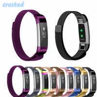 CRISTA Milanese Laço Correia & Ligação Pulseira de Aço Inoxidável pulseira para Fitbit Alta HR/Alta Substituição Watch band Strap