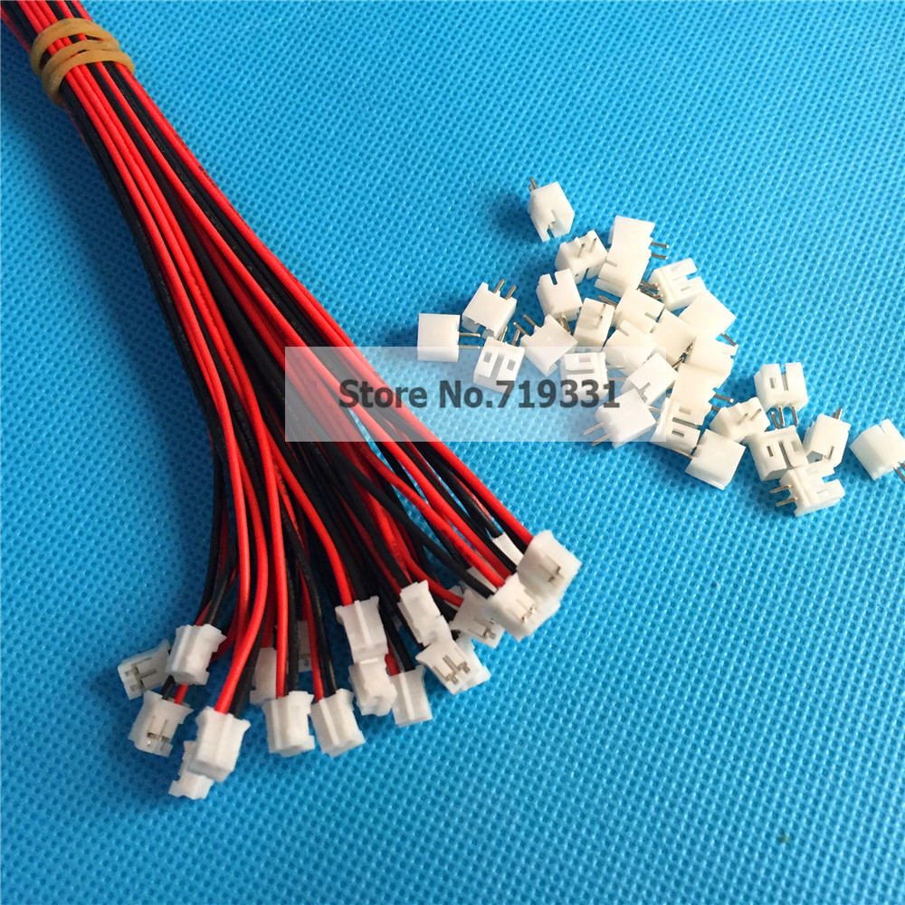 ツ)_/¯50 SETS Mini Micro JST 2.0 PH 2-Pin Connector plug with Wires ...