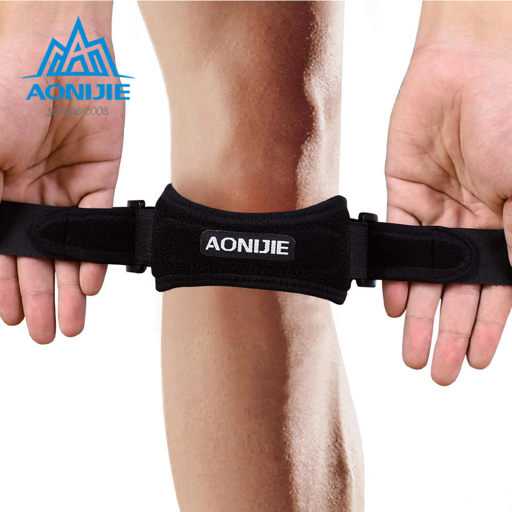 AONIJIE E4067 réglable rotule genou sangle orthèse Support coussin soulagement de la douleur bande pour la randonnée football basket-ball volley-ball Squats