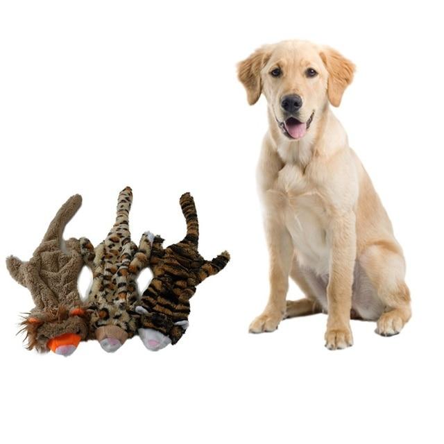 2018 NUOVO Cane Squeak Toys Pet Puppy Chew Squeaky Peluche Suono Simpatico Leone