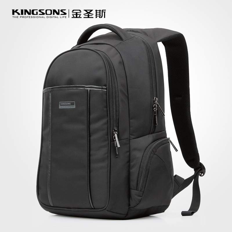 Kingsons Men's Computer Bag Shoulder 15.6-inch Waterproof Shockproof Notebook Backpack Laptop Backpack Anti Theft Backpack for imaje s4 s8 pre head cover before of the head eb6180 b