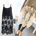 Four all-match Camisole Korean sexy lace yarn Eugen loose dress code base