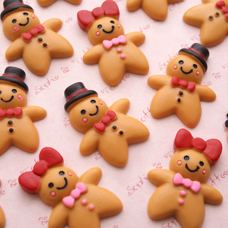100 Pcs Dollhouse Miniature Ginger Bread  Cookie Christmas Season Deco Food