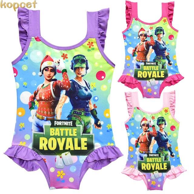 Lovely swim wear baby girl bikini badmode dresses Ninja One Off Shoulder Swimsuit Swimsuit Bathing One-Piece Swimming Clothes 5