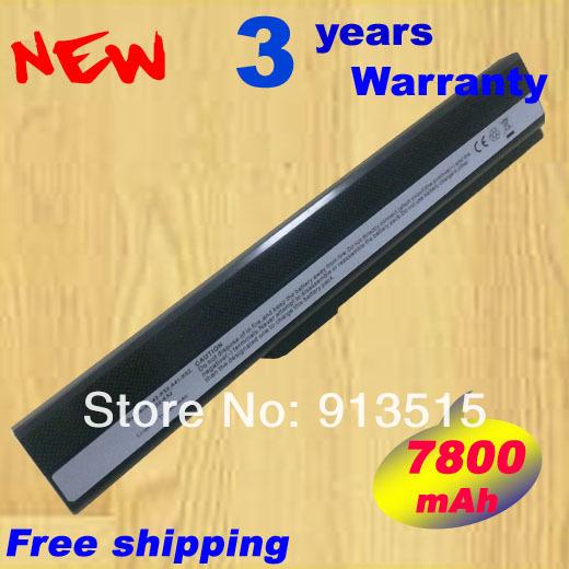 7800 mAh batería del ordenador portátil para asus K52 for60-nzsmb1000-d03 K52D K52DE k52dy K52DR K52F K52J K52JB K52JC K52JE K52JK K52JR K52N K62 K62F K62J K62JR