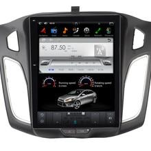 """10,"""" вертикальный экран Tesla стиль Android 7,1 автомобильный мультимедийный плеер gps навигация для Ford Focus 2012- с радио BT стерео"""
