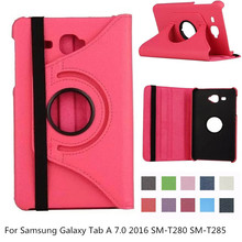 For Samsung Galaxy Tab A6 7 0 Case 360 Rotating Stand Cover for Samsung Galaxy Tab A 7 0 2016 SM-T280 SM-T285 Tablet Case + pen cheap Glorldty Protective Shell Skin Solid For xiao mi Fashion Waterproof Drop resistance Anti-Dust Hard Shockproof Leather