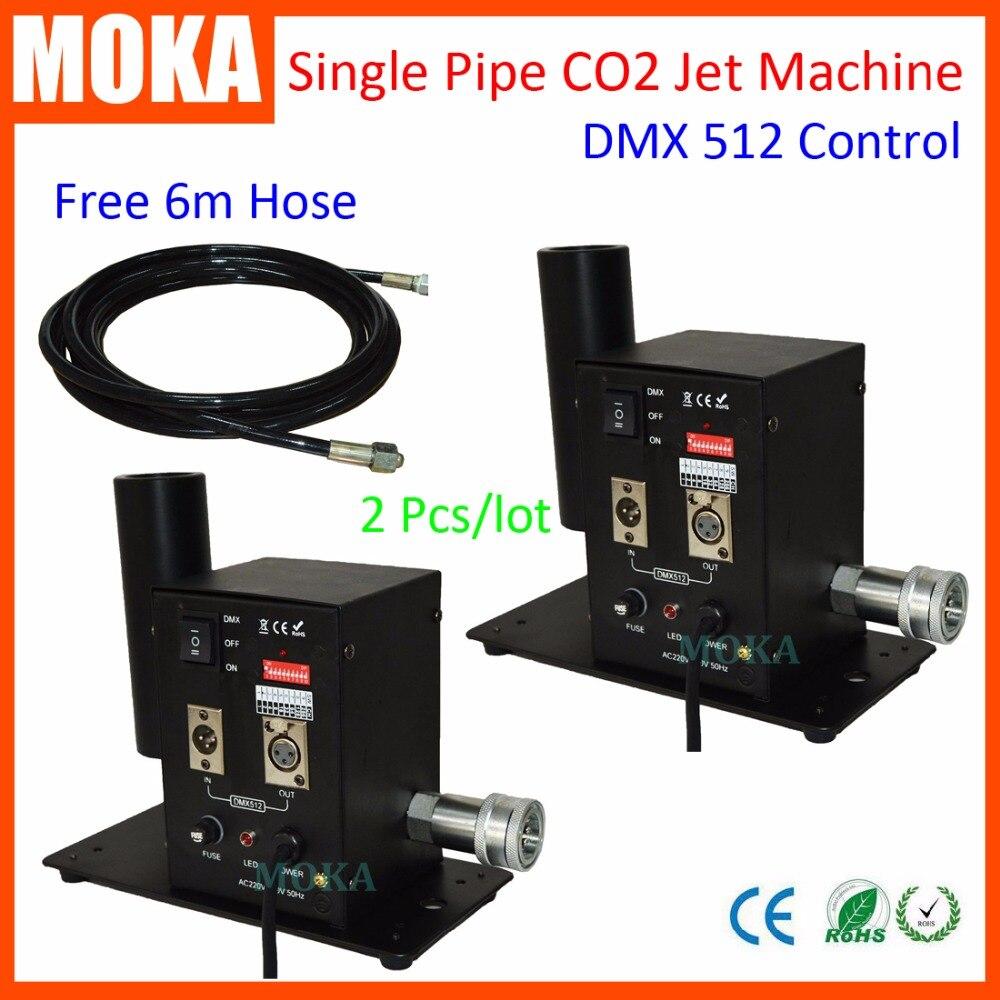 2 pcs lot Wholesale DMX 512 Stage Co2 Jet Machine dry ice fog effect CO2 smoke