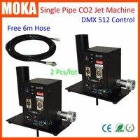 2 шт/комплект оптовая продажа DMX 512 Стадия Co2 ткацкий станок сухой лед Туман эффект, CO2 дым машины специальные эффекты пушки