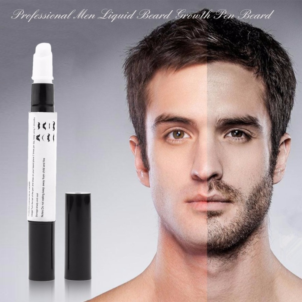 Профессиональный Для мужчин жидкости рост бороды ручка борода Enhancer лица, питание усы растут рисунок пером ...