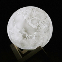 3d Moon Lamp Luminaria Lua USB Charging Night Light Led Touch Control Brightness Bedside Moonlight Lamp