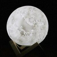 3d Moon Lamp Luminaria Lua USB Charging Night Light Led Touch Control Brightness Bedside Moonlight Lamp