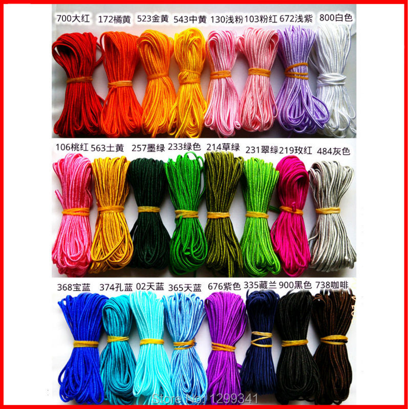US $20 48 10% OFF Chinese Knotting Cord/Taiwan/Nylon/Flat Cord/Good  Quality/Width 0 118in Length10 94yd/1Lot:10pcs/Free Shipping-in Cords from  Home &