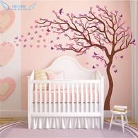 Nursery Tree Wall Art Decor Birds & Flowers & Butterflies Wall Sticker Home Decoration Kids Bedroom Wall Decals