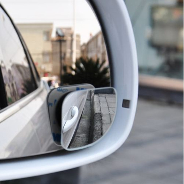2pcs/lot Car Accessories Small Round Mirror Car Rearview Mirror Blind Spot Wide-angle Lens 360 degree Rotation Adjustable