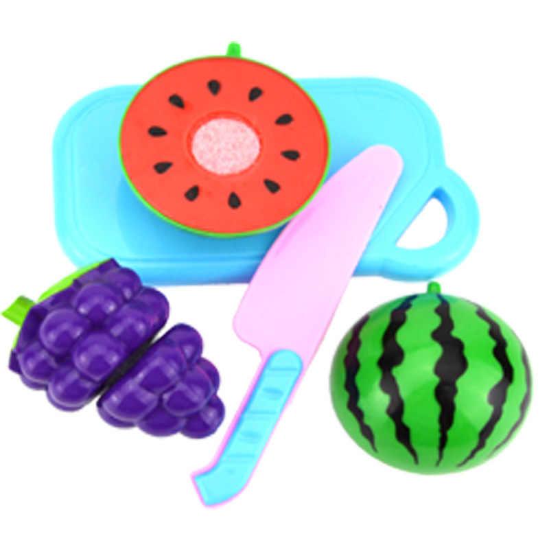 4 шт./компл. пластиковые Кухонные Игрушки Кукуруза баклажаны нож разделочная доска дети Моделирование игрушка ролевые образовательные безопасность Смешные плиты