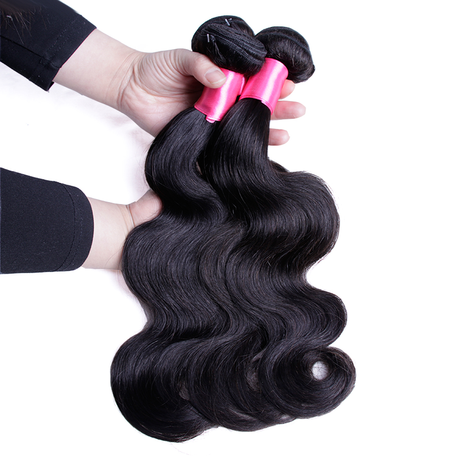 Piaoyi Burmese Body Wave Hair Extensions 8-26 Non Remy Human Hair Bundles 1 Pcs Free Shipping Natural Color Body Wave Bundles ...